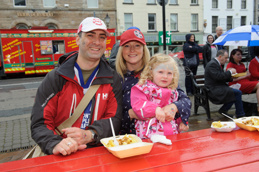 At the Monaghan Canada Day celebrations were Geoffrey O'Brien from Toronto with Nicola and Erin O'Brien. ©Rory Geary/The Northern Standard