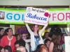 A young supporter holding up a banner in support of Rebecca Duffy at the Monaghan Rose of Tralee selection night. ©Rory Geary/The Northern Standard