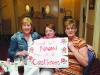 Mary McArdle, Mary McEneaney and Marie Mooney, with a sign which was made by the residents of Castleross Nursing Home in support of Naomi Hutchinson. ©Rory Geary/The Northern Standard