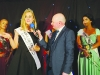 2015 Rose of Tralee, Elysha Brennan, speaking with Sean McCaffrey, at the Monaghan Rose Selection night. ©Rory Geary/The Northern Standard