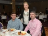 At the Amatino AIB Brexit Breakfast Briefing in The Hillgrove Hotel were Kevin Hughes and Peter Campbell from CombiLift with Amanda McMeel, Amatino. ©Rory Geary/The Northern Standard
