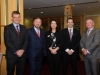 Pictured at the Amatino AIB Brexit Breakfast Briefing in The Hillgrove Hotel were (L-R) John Kieran, Amatino, Des Lowry, Amatino, Tracey Smith, AIB, Emmet Colleran, Amatino and John Farrelly, Key Financials. ©Rory Geary/The Northern Standard