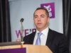 John Fahy, AIB, senior economist, AIB, speaking at the Amatino AIB Brexit Breakfast Briefing in The Hillgrove Hotel. ©Rory Geary/The Northern Standard