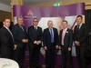 Amatino AIB Brexit Breakfast Briefing  At the Amatino AIB Brexit Breakfast Briefing that was held in The Hillgrove Hotel on Wednesday morning were some of the speakers at the event, which was co-hosted by Amatino Partners and AIB. Included in the photo are (L-R) John Fahy, senior economist AIB, Eoin O'Neill, President, British Irish Chamber of Commerce, Barry Kieran, Amatino Partners, Wilfred Carleton, Carleton Cakes, Paddy Whyte, AIB and Aidan Gough, InterTradeIreland. ©Rory Geary/The Northern Standard