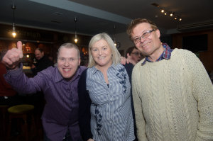 At the Monaghan Arch Club Party at the Monaghan Harps GFC, were (L-R) Stephen Boylan, Grainne Keenan and Eamon Brummitt. ©Rory Geary/The Northern Standard
