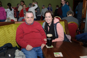 Larry Kangley and Teresa McMeel at the Monaghan Arch Club party at the Monaghan Harps GFC. ©Rory Geary/The Northern Standard