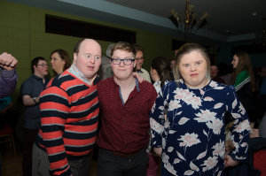 At the Monaghan Harps GFC for the Monaghan Arch Club party were (L-R) Mark McElroy, Terry Treanor and Claire McElroy. ©Rory Geary/The Northern Standard