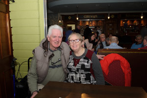 Donal Kenny and Margaritte Kierwin at the Monaghan Arch Club Party at the Monaghan Harps GFC. ©Rory Geary/The Northern Standard