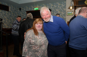 Grace Baxter with Owen Connell at the Monaghan Arch Club party at the Monaghan Harps GFC. ©Rory Geary/The Northern Standard