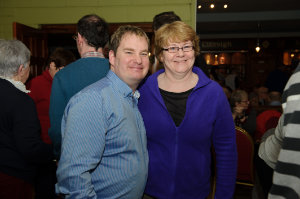 Paul McKenna and Ann Duffy at the Monaghan Harps GFC for the Monaghan Arch Club party. ©Rory Geary/The Northern Standard