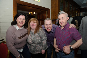 Pictured at the Monaghan Arch Club party were (L-R) Julie Brannigan, Grace Baxter, Stephen Boylan and Patrick McKenna. ©Rory Geary/The Northern Standard