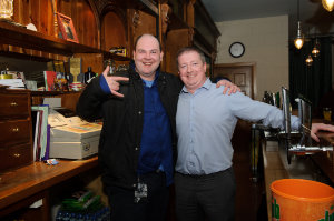 Darragh Sheridan and Padraig Callan at the Monaghan Harps GFC for the Monaghan Arch Club party. ©Rory Geary/The Northern Standard