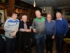 At the Monaghan Arch Club party at the Monaghan Harps GFC, were (L-R) Sean Molloy, Sean Hahessy, Dermot Coyle, Sean McKenna and Owen Connell. ©Rory Geary/The Northern Standard