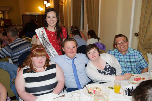 At the Monaghan Arch Club Summer Party with Monaghan Rose of Tralee Maria Murnaghan were Grace Baxter, Justin Erskine, Emer Tully and Eamon Brummitt. ©Rory Geary/The Northern Standard