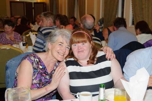 Mary Keough and Grace Baxter at the Monaghan Arch Club Summer Party in The Westenra Hotel. ©Rory Geary/The Northern Standard