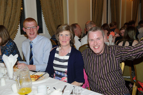 At the Monaghan Arch Club Summer Party were (L-R) Jason and Harriet Hill and Stephen Boylan. ©Rory Geary/The Northern Standard