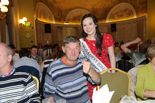 Hugh Coyle with Monaghan Rose of Tralee Maria Murnaghan at the Monaghan Arch Club Summer Party in The Westenra Hotel. ©Rory Geary/The Northern Standard
