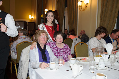 Maureen Murray and Fiona Callan with Monaghan Rose of Tralee Maria Murnaghan at the Monaghan Arch Club Summer Party. ©Rory Geary/The Northern Standard