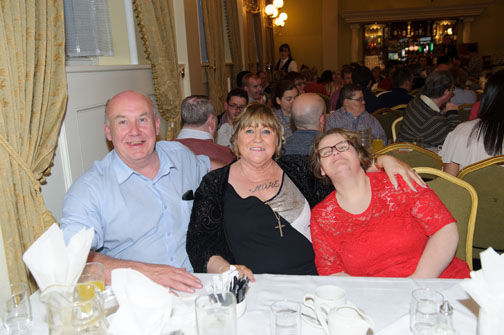 At the Monaghan Arch Club Summer Party were (L-R) Gary McEneaney, EIleen Brannigan and Ann Marie Murphy. ©Rory Geary/The Northern Standard