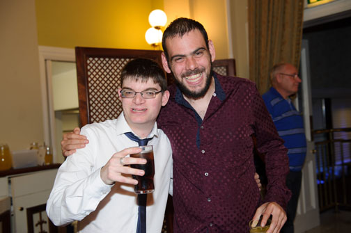Freddie Curtis and Padraig Crudden at the Monaghan Arch Club Summer Party. ©Rory Geary/The Northern Standard