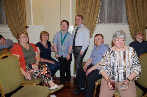 Some of the members of the Monaghan Arch Club at their recent summer party in The Westenra Hotel, were Ann Duffy, Martina Daley, Donal Treanor, Niall Murphy, Finbarr Callan and Martina O'Neill. ©Rory Geary/The Northern Standard