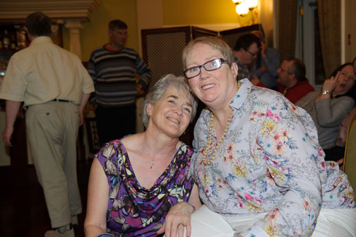 Mary Keogh and Margaritte Kierwin at the Monaghan Arch Club Summer Party in The Westenra Hotel. ©Rory Geary/The Northern Standard