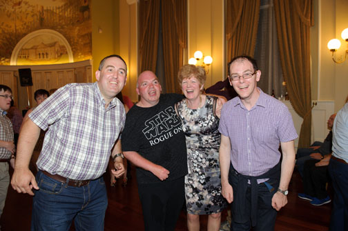 At the Monaghan Arch Club Summer Party were (L-R) William Hollinger, Kevin Owens, Maria Treanor and Brendan Haughey. ©Rory Geary/The Northern Standard