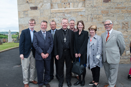 Some of the members of the Ulster History Circle at the event to unveil a plaque in honour of Archbishop John Joseph Hughes. On left is Daniel J Lawton,  American Consul General to Northern Ireland. ©Rory Geary/The Northern Standard