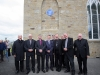 At the unveiling of the plaque to Archbishop John Joseph Hughes, were some of the clergy that attended the event with Archbishop Eamon Martin, Archbishop of Armagh and Primate of All-Ireland ©Rory Geary/The Northern Standard