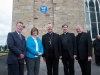 Pictured at the event to unveil a plaque in honour of Archbishop John Joseph Hughes, were (L-R) Chris Spurr, chairman, Ulster History Circle, Eileen McKenna, Clogher Historical Society, Archbishop Eamon Martin, Archbishop of Armagh and Primate of All-Ireland Monsignor Joseph McGuinness, Diocesan Administrator of the Diocese of Clogher and Fr Noel McGahan. ©Rory Geary/The Northern Standard