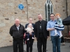 Archbishop Eamon Martin, Archbishop of Armagh and Primate of All-Ireland, with members of Eileen McKenna's family at the event, (L-R) Colm McKenna, Bríd and Emer McKenna, Archbishop Eamon Martin, Archbishop of Armagh and Primate of All-Ireland, Conor and Caitlin McKenna. ©Rory Geary/The Northern Standard
