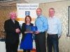 At the presentation to Rose Lambe, Carrick Aces, were (L-R) Fr Paudge Corrigan, Rose Lambe, Brian Peppard and Alan Clarke, Chairman of the Monaghan County Athletics Board. ©Rory Geary/The Northern Standard