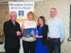 At the presentation to Una McMahon, Monaghan Phoenix AC were (L-R) Fr Paudge Corrigan, Una McMahon, Rose Lambe and Alan Clarke, Chairman of the Monaghan County Athletics Board. ©Rory Geary/The Northern Standard