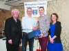 At the presentation to Conor Duffy, Glaslough Harriers,  were (L-R) Fr Paudge Corrigan, Alan Clarke, Chairman of the Monaghan County Athletics Board, Conor Duffy and Rose Lambe. ©Rory Geary/The Northern Standard