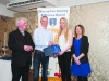 At the presentation to Amy Hamill, Glaslough Harriers, were (L-R) Fr Paudge Corrigan, Alan Clarke, Chairman of the Monaghan County Athletics Board, Amy Hamil and Rose Lambe. ©Rory Geary/The Northern Standard