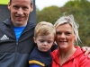 Dessie Duffy, Christian Duffy and Fiona Duffy, taking part in the Wetlands Running Club 5k run, held in Ballybay on Sunday last. Photo: Jimmy Walsh