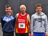 From left; Matthew Connolly, Gerry Moore and Owen McKenna, taking part in the County League, Wetlands Running Club 5k run, held in Ballybay on Sunday last. Photo: Jimmy Walsh