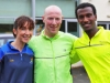 From left; Donna Mone, Declan McCaul and Alex, taking part in the County League, Wetlands Running Club 5k run, held in Ballybay on Sunday last. Photo: Jimmy Walsh