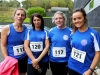 From left; Sinead Doherty, Flo O'Hagan, Sharon Duffy and Lisa Brennan, taking part in the County League, Wetlands Running Club 5k run, held in Ballybay. Photo: Jimmy Walsh