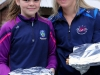 Teagin Murphy (left) and Melissa Connolly, supplying the sandwiches, for the the County League, Wetlands Running Club 5k run, held in Ballybay. Photo: Jimmy Walsh