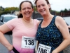 Francesca Traynor (left) and Joanne McEntee, taking part in the County League, Wetlands Running Club 5k run, held in Ballybay. Photo: Jimmy Walsh