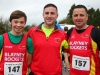 Ryan McMahon, (left) Jason Monahan and Gerry Collins, taking part in the County League, Wetlands Running Club 5k run, held in Ballybay. Photo: Jimmy Walsh