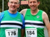Joe Shiels, (left) and Lorcan MacCinnna, taking part in the County League, Wetlands Running Club 5k run, held in Ballybay. Photo: Jimmy Walsh