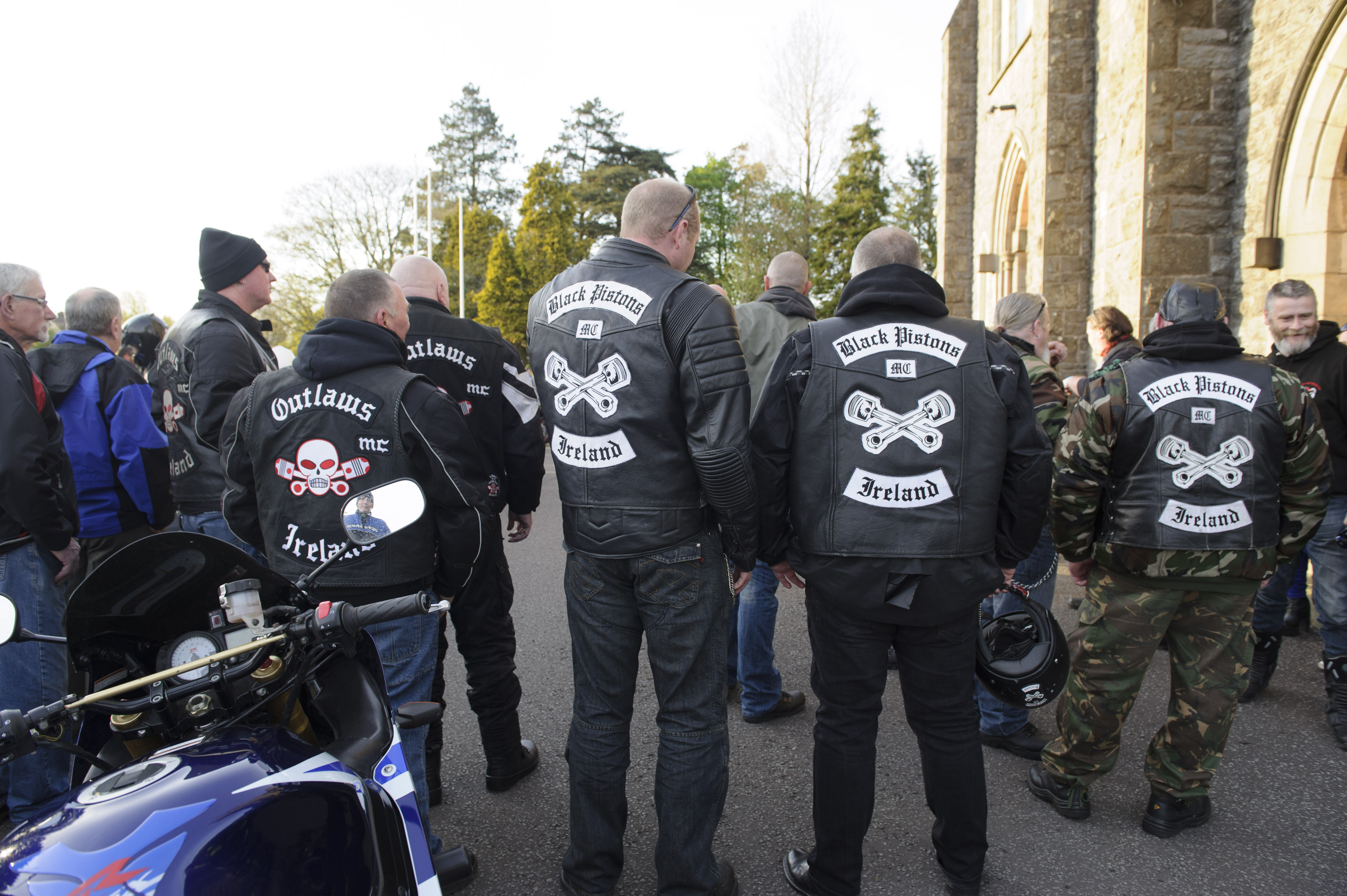 Some of the clubs that attended the Gone But Not Forgotten Bikers Mass at the event last weekend. ©Rory Geary/The Northern Standard