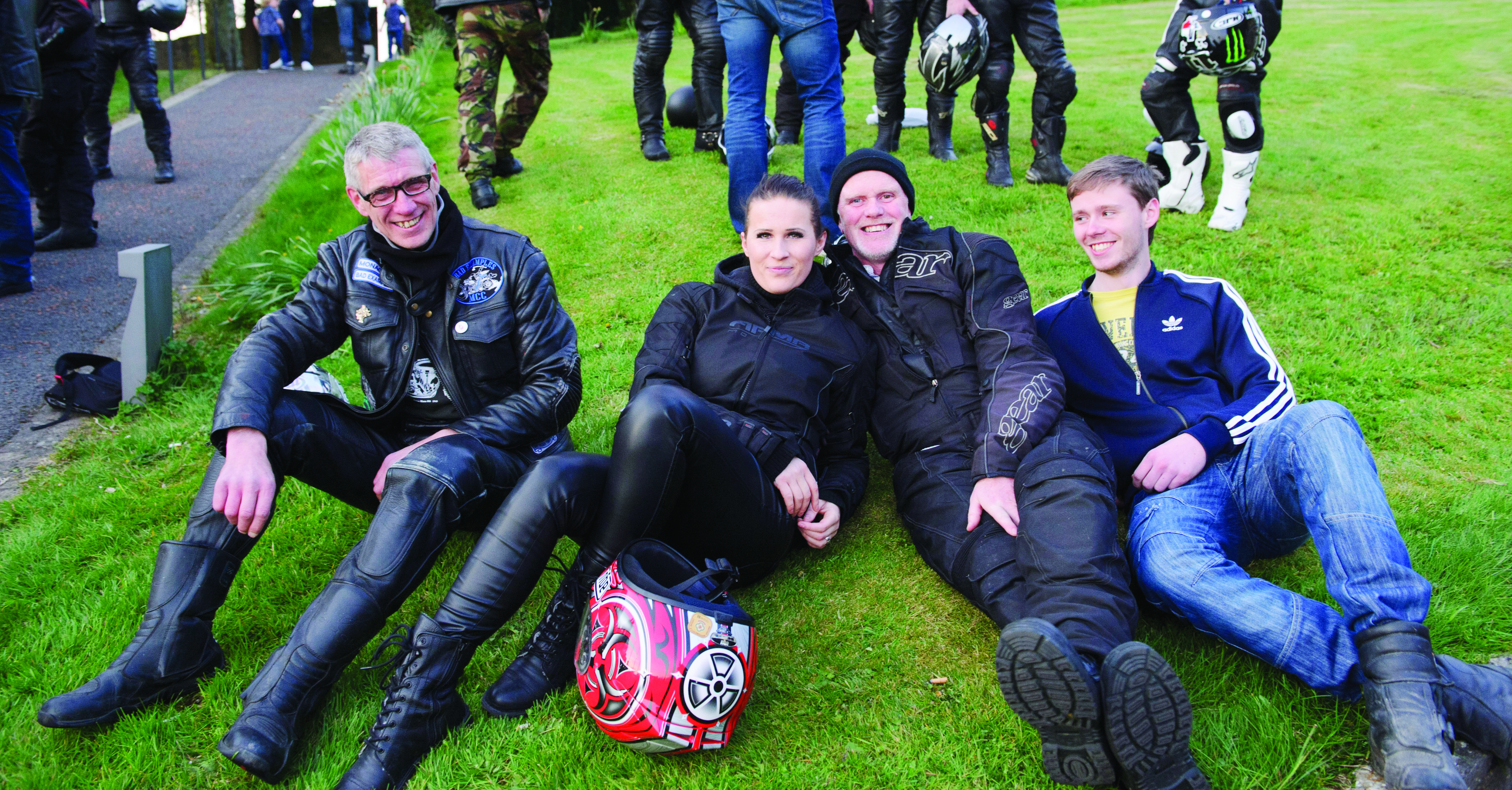 Some of the bikers at the Gone But Not Forgotten Bikers Mass in Clones last Friday. ©Rory Geary/The Northern Standard