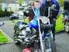 Emmet and Paddy Treanor at the Gone But Not Forgotten Bikers mass last Friday. ©Rory Geary/The Northern Standard