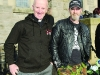 FR Tony Conlon and Alan Bell at the Gone But Not Forgotten Bikers Mass in Clones last Friday. ©Rory Geary/The Northern Standard