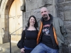 Jenny and Big Dave at the Gone But Not Forgotten Bikers Mass which was held in Clones last Friday. ©Rory Geary/The Northern Standard