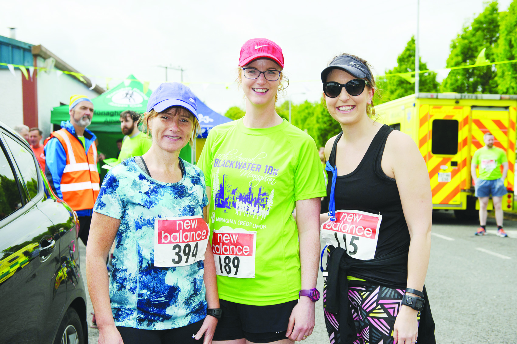 At the Blackwater 10k were (L-R) Helen Doran, Emer Hannon and Melissa Long. ©Rory Geary/The Northern Standard