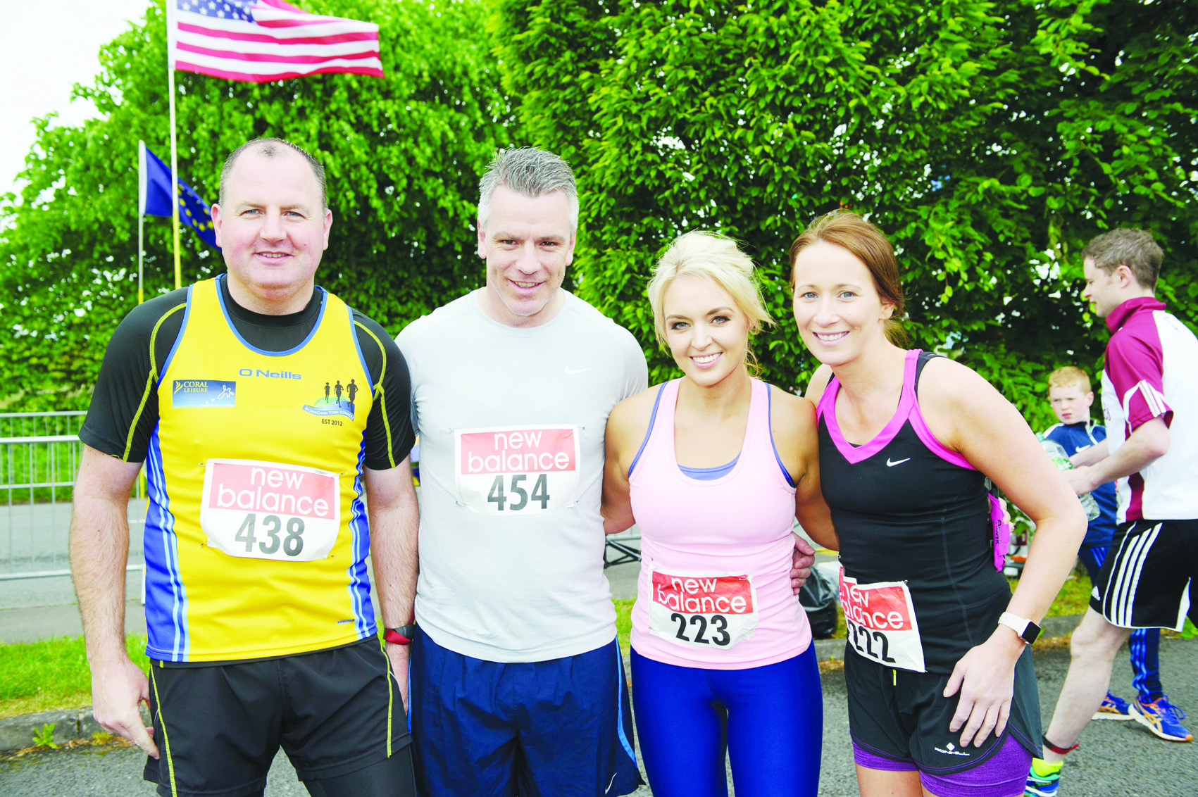 At the Blackwater 10k were (L-R) Frankie McDonald, Padraig Joyce, Andrea McElvaney and Michelle Reid. ©Rory Geary/The Northern Standard
